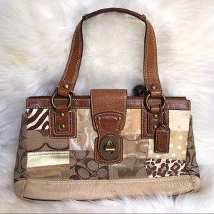 Coach Animal Print Patchwork Bag
